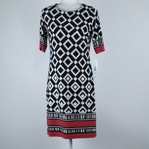 R&K bold graphic dress size 4